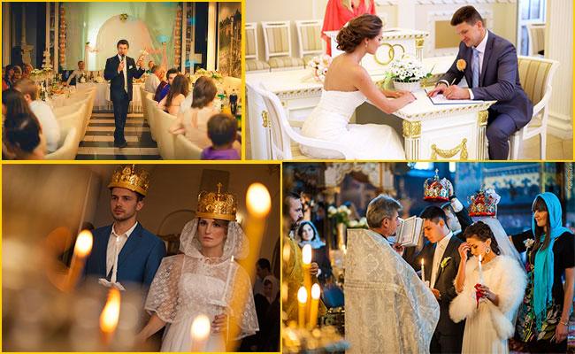 Регистрация в ЗАГСе и венчание