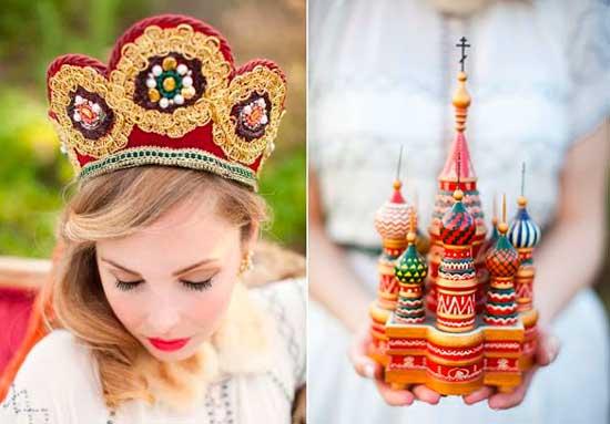 Кокошник на свадьбу в русском стиле
