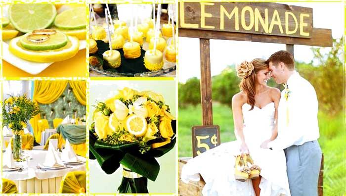 Желтая лимонная свадьба