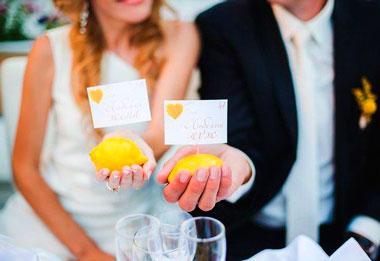 Свадьба в лимонном стиле
