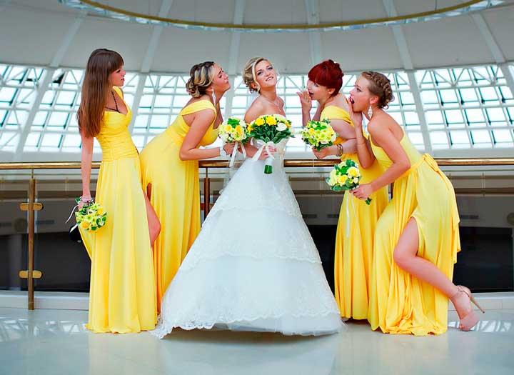 Невеста с лимонной свадьбой