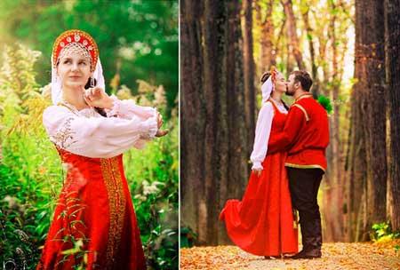 Образ жениха и невесты на свадьбу