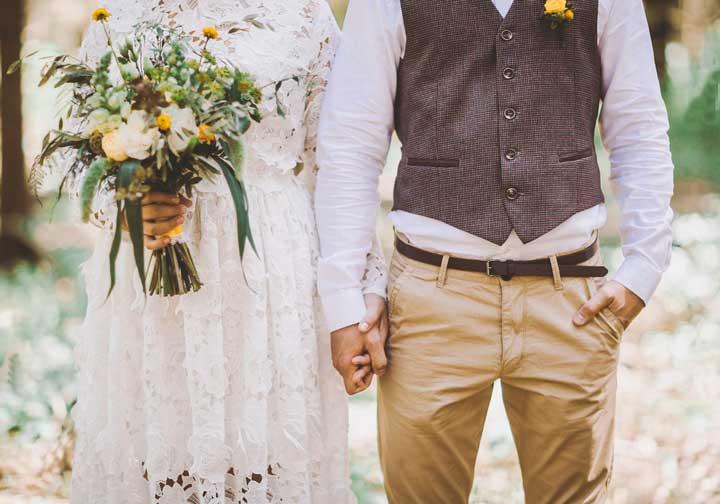 Образ жениха и невесты рустик