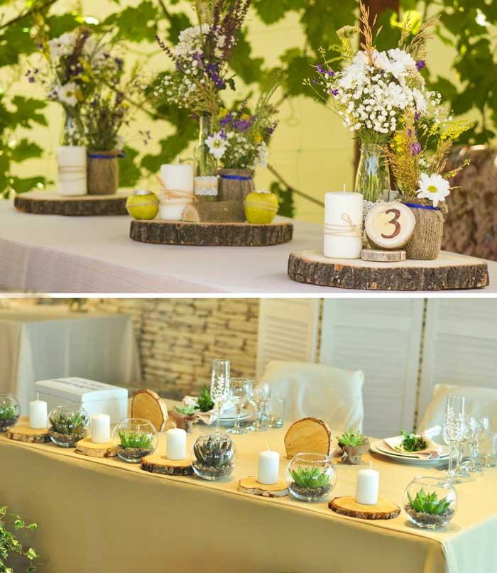 Стол природной свадьбы