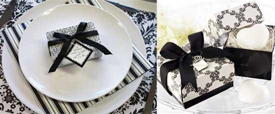 Черно-белые пригласительные на свадьбу