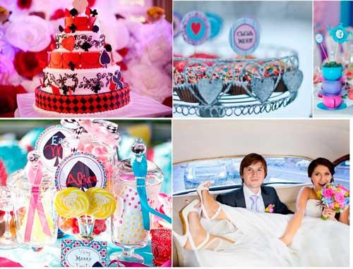 Сказочный мир свадьбы Алиса в стране чудес