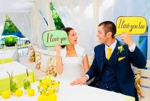 Таблички для свадебных фото