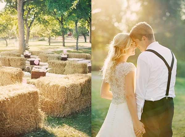 Простые эко украшения жениха и невесты