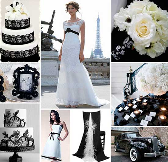 Черно-белый стиль Свадьбы