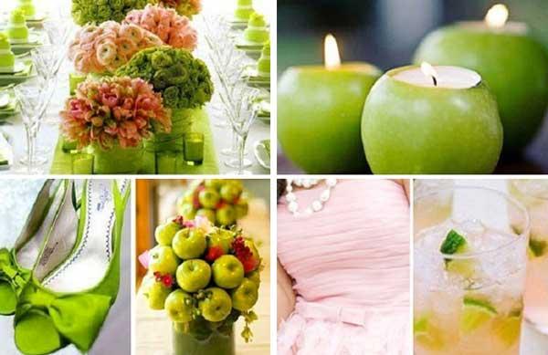 Ярка зеленая яблочная Свадьба
