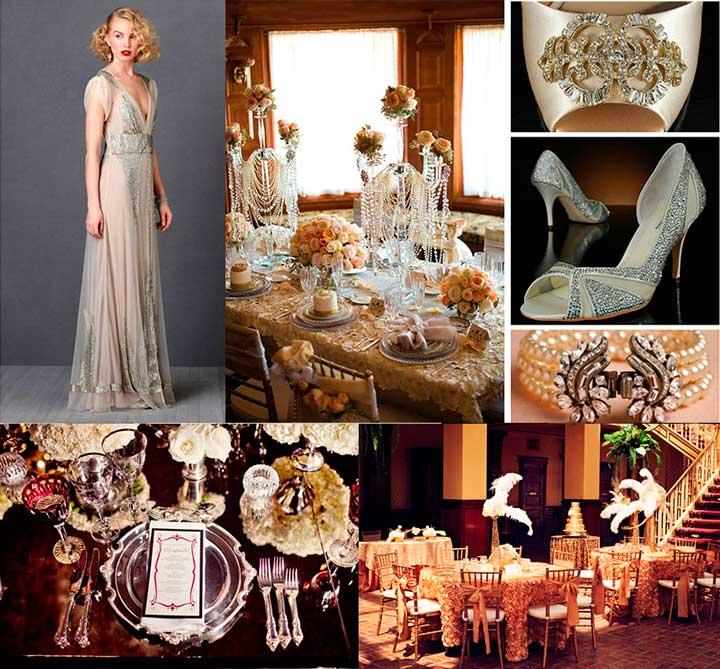 Гэтсби стиль для свадьбы