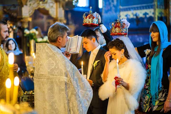 Свадебная молитва в церкви