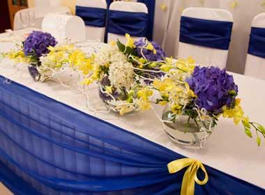 Бело-синяя свадьба советы