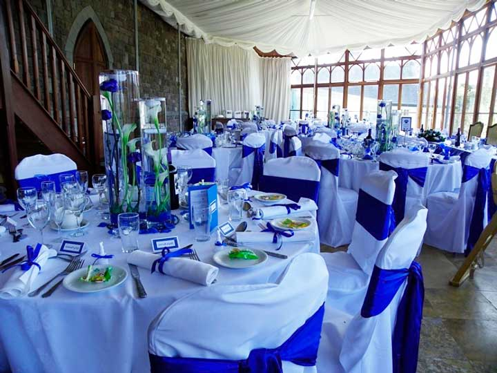 Бело-синяя свадьба на корабле