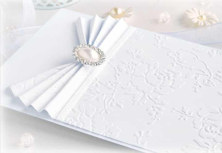 Белые приглашения на свадьбу