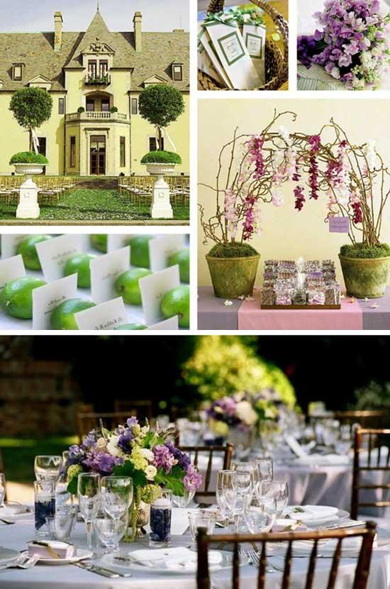 Предметы декора весенней свадьбы