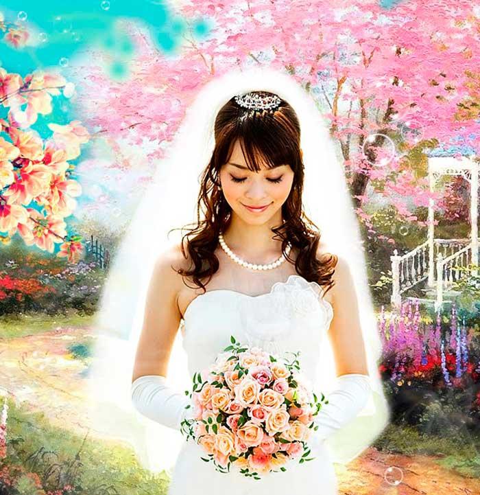Наряд невесты на свадьбу весной