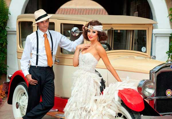 Образ невесты Гэтсби стиля