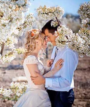 Плюсы свадьбы весной