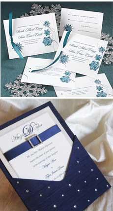 Приглашения на зимнюю свадьбу