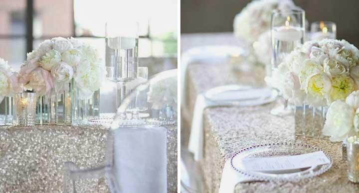 Бело-серебристый цвет на свадьбе