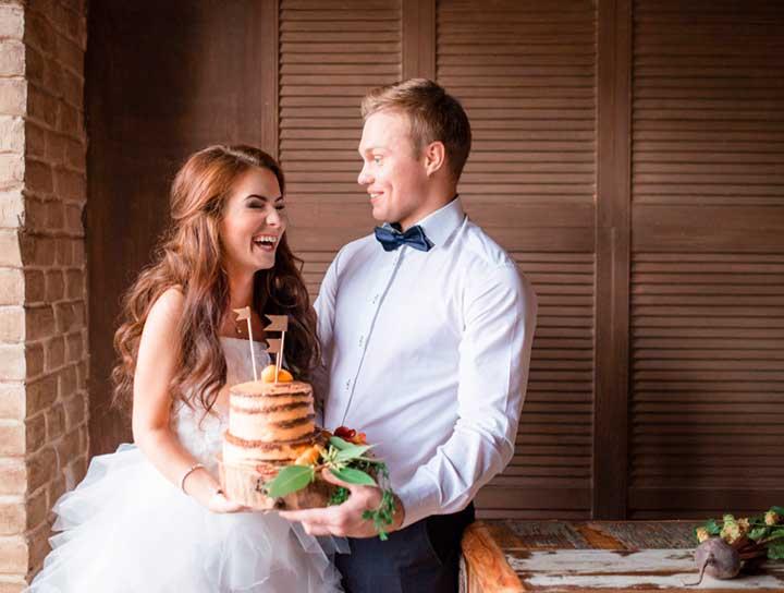 Вегетарианский торт на свадьбу
