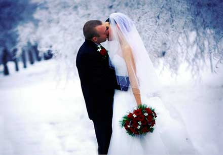 Выкуп на зимней свадьбе