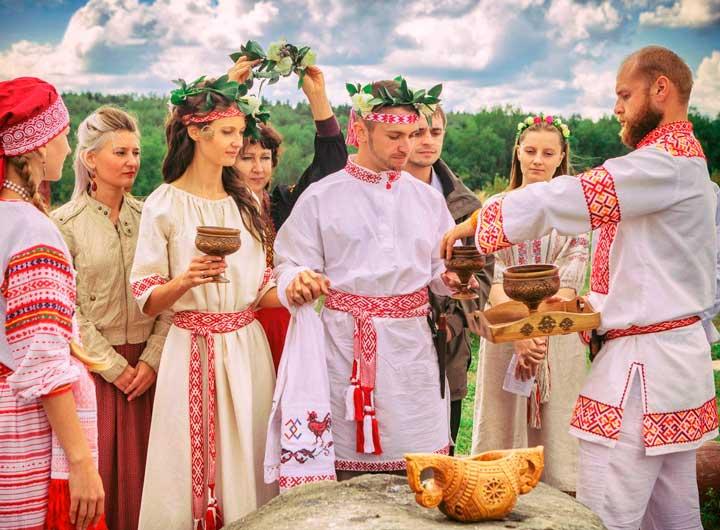 Выкуп на русской свадьбе