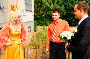 Выкуп на свадьбе в стиле сказки