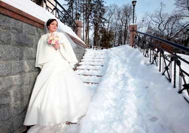 Выкуп невесты зимой