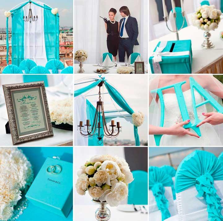 Декор свадьбы в стиле тиффани