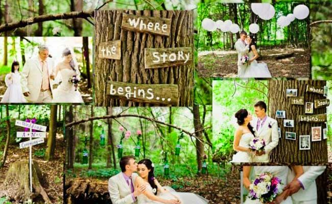 Свадьба в зеленом лесу