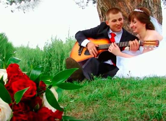 Свадебная история любви молодожен
