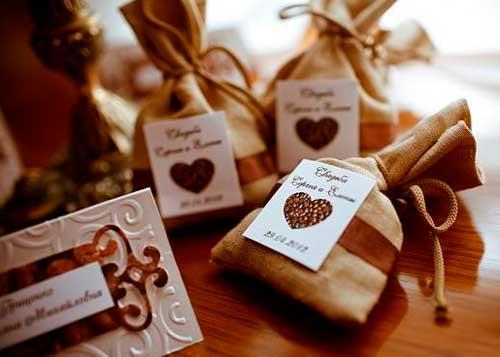 Кофейные пригласительные на свадьбу