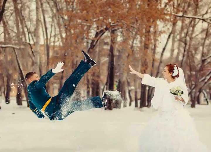 Минусы зимней свадьбы