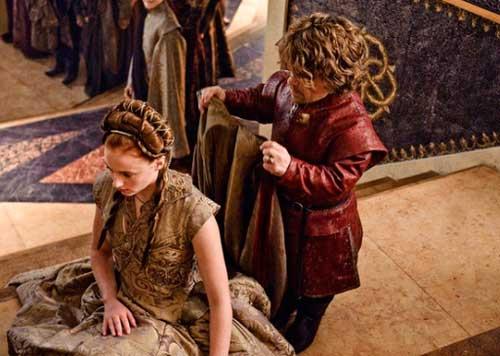 Невеста на свадьбе в стиле игры престолов