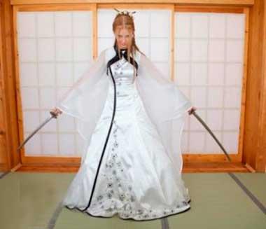 Невеста в стиле японского воина