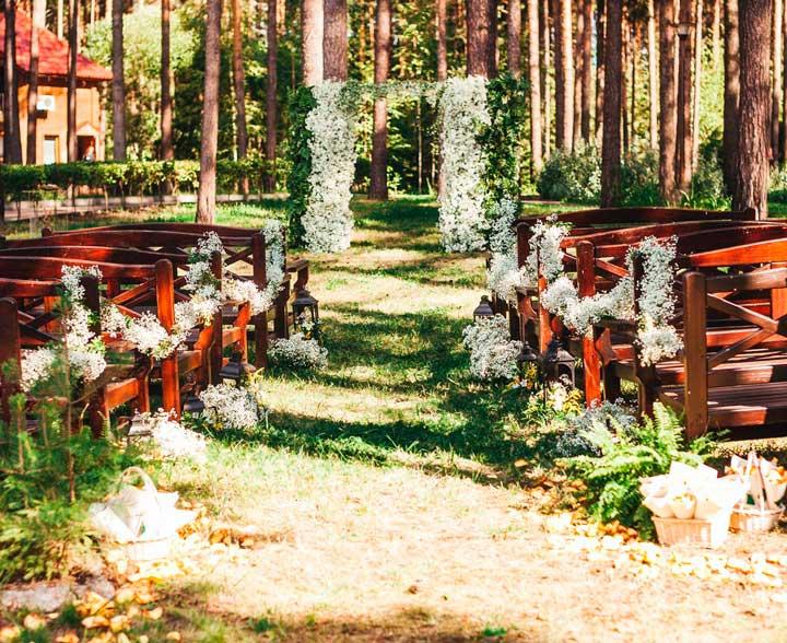 Недостатки в оформлении свадьбы в лесу