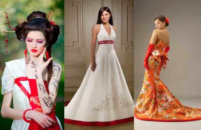 Платье невесты на японской свадьбе
