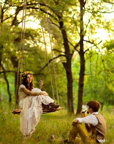 Преимущества свадьбы в лесу