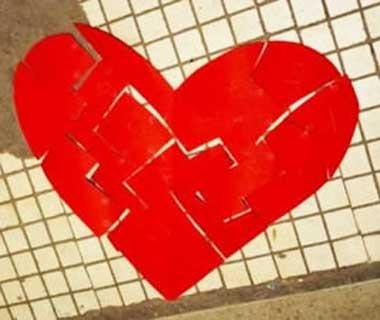 Сердце в стиле пазл
