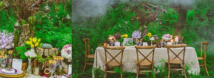 Столы на эльфийской свадьбе