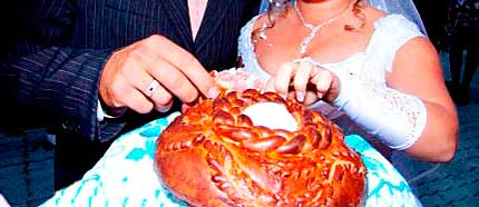 Хлеб да соль на свадьбе