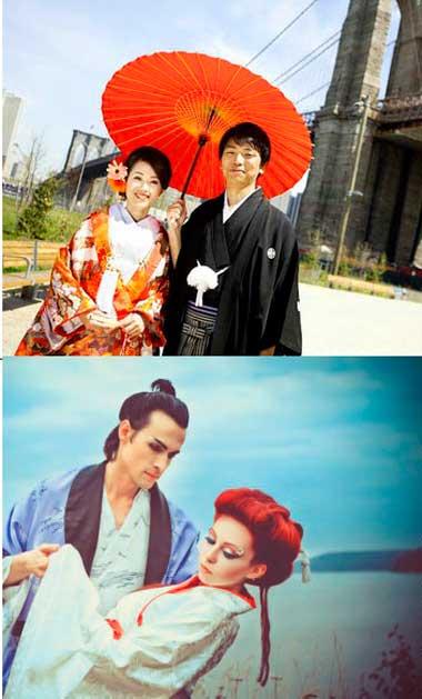 Японский жених и невеста на выкупе