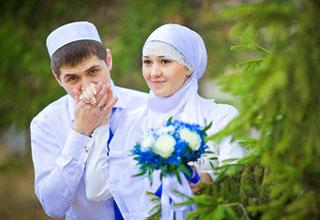 Белоснежные свадебные наряды масульман