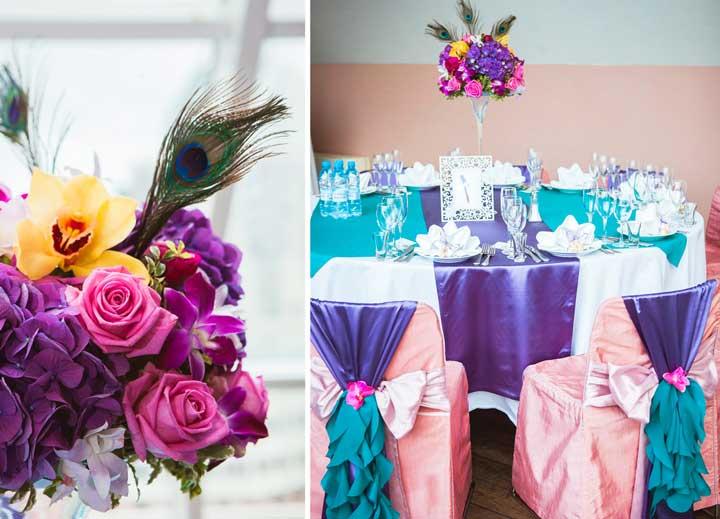 Подобрать букет невесты к свадьбе павлина