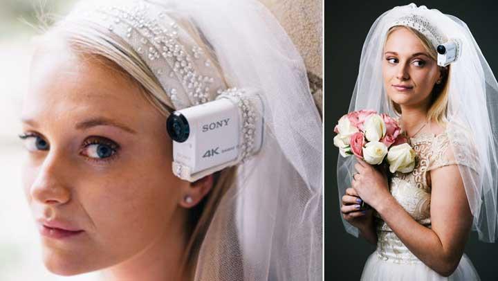 Видеосъемка с головы невесты