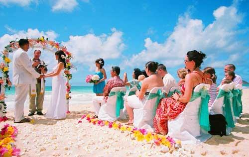 гавайская свадьба летом