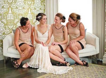 Гости на винтажной свадьбе