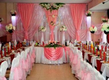 Ткани и декор свадебного зала